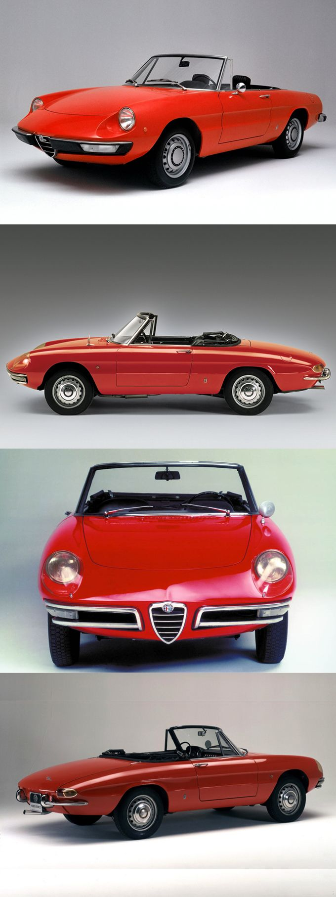 1966 Alfa Romeo Spider Duetto / boattail / Italy / red / Pininfarina / 17-332