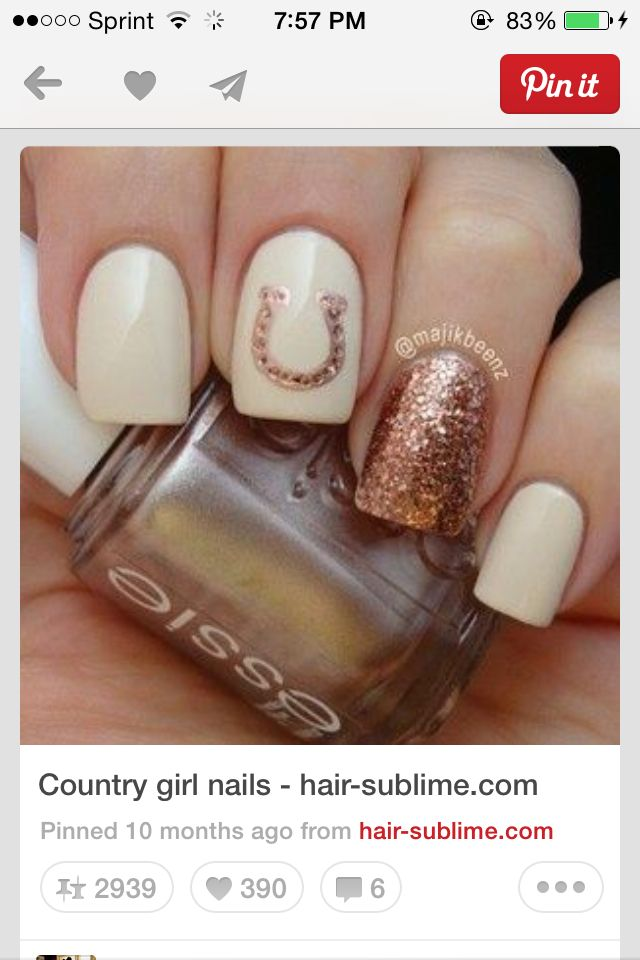 country nails for vals wedding