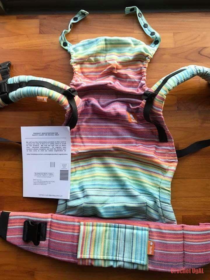 BABY TULA FULL FREE-TO-GROW WC – GIRASOL CANDY CREMA DE NUBE WEFT häkeln