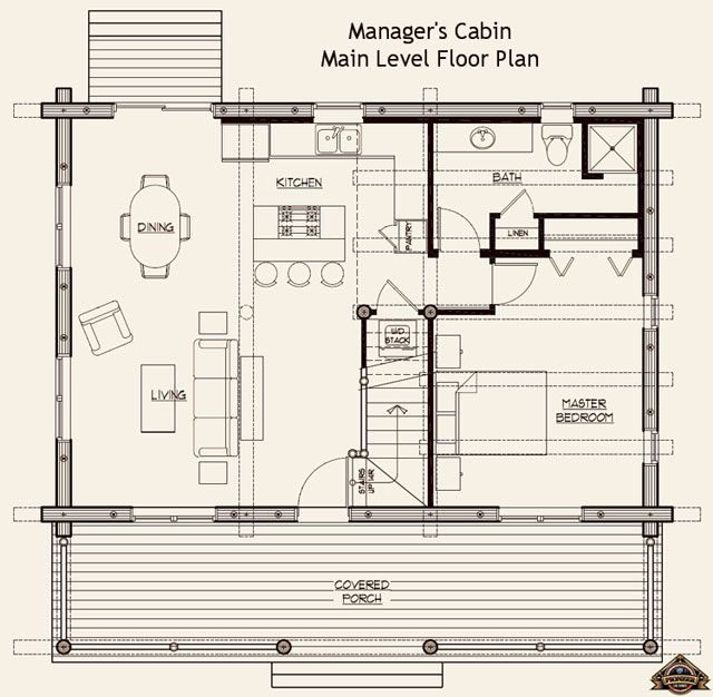 Small Log Cabin Floor Plans Bing Images Guest Cottage