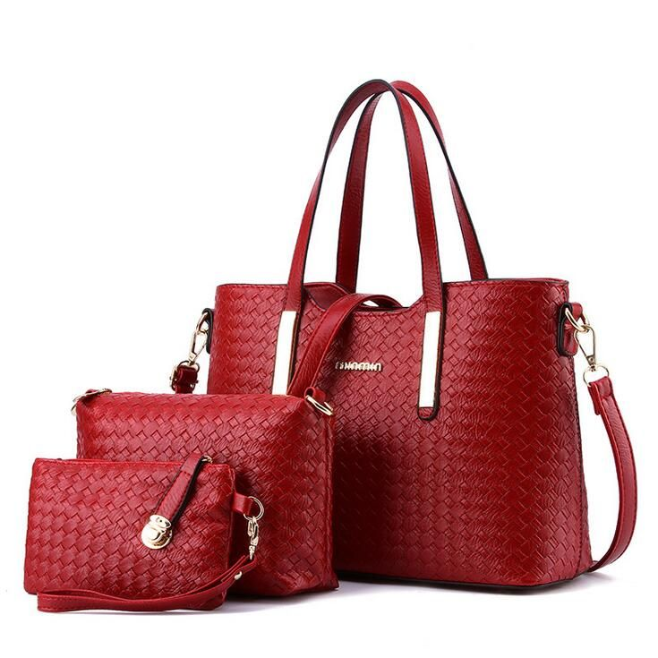 Aliexpress 2017 New Arrival Fashion Knitted Bags Handbags Women Famous Brands Pu