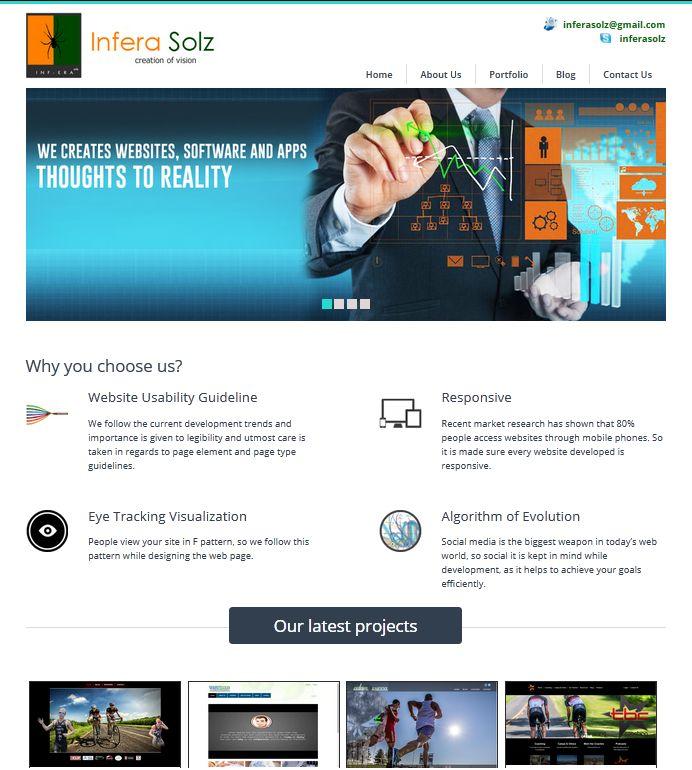 www.inferasolz.com  New look of Infera Solz