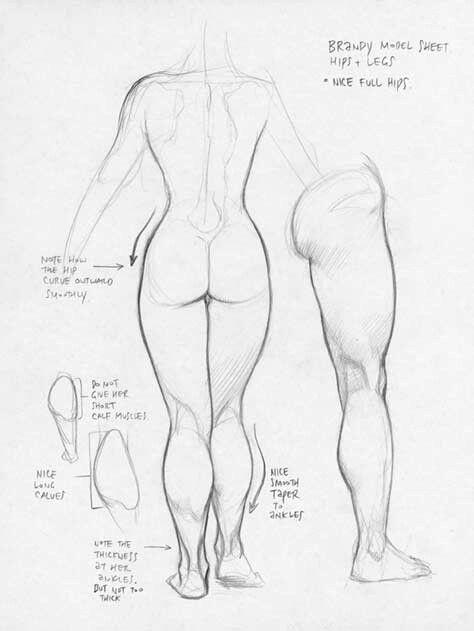 Female body by Frank Cho