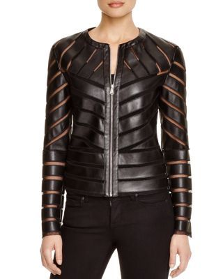 Bagatelle Cutout Faux Leather Jacket | bloomingdales.com