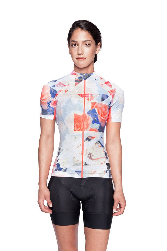 GeoFloral Print Women's Cycling Jersey – MACHINES FOR FREEDOM
