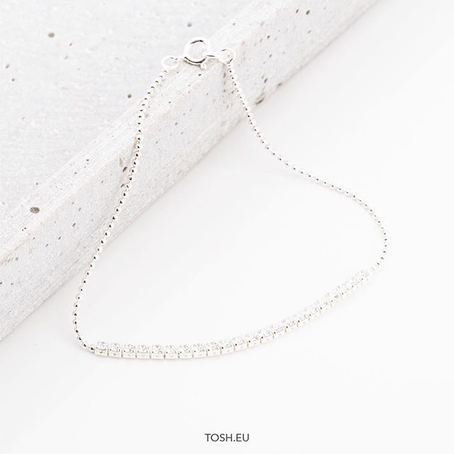 Silver 925 Bracelet with zirconia stones 29,95 €  Find a store at www.tosh.eu #thisistosh #tosh #toshshop #fashion #jewelry #inspiration #detail #bracelet #spring #silver925 #zirconia