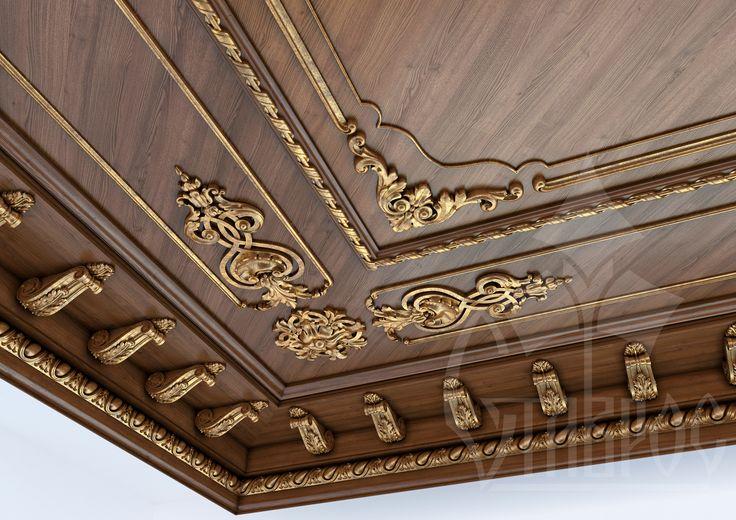 Дизайн-проект резного кессонного потолка