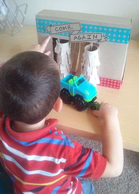 Kid's Cardboard Car Wash Tutorial: Little Paper Dog