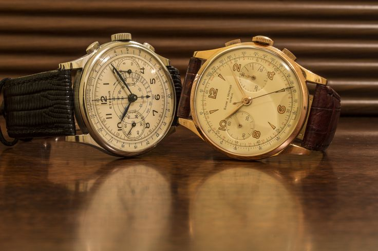 Stunning #Eterna and #BaumeEtMercier chronographs in steel and gold