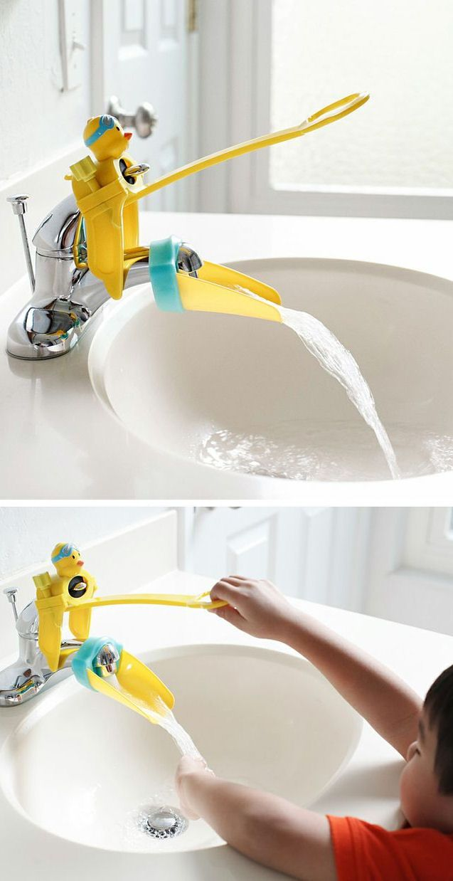 Duckie Faucet Extender For Little Hands // SO cUte!