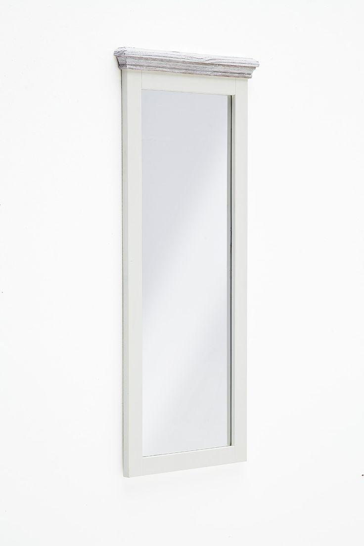Wandspiegel Elsa III Massivholz / Kiefer weiß passend zum Möbelprogramm Elsa 1 x Wandspiegel / Garderobenspiegel Maße: B/H/T ca. 59 x 145 x 5 cm Aufbauart: aufgebaut... #flur #garderobe #spiegel