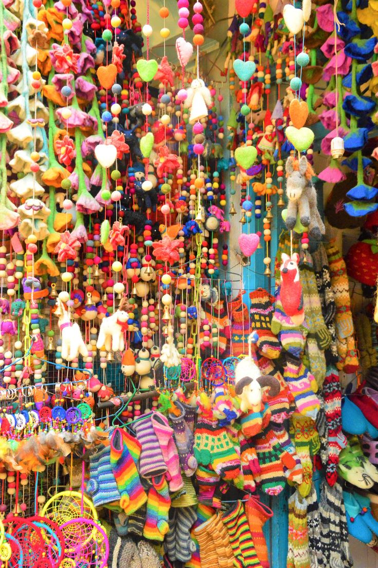 colourful shopping in kathmandu nepal