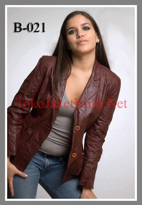 Model Blazer Kulit Wanita; Kode: B-021