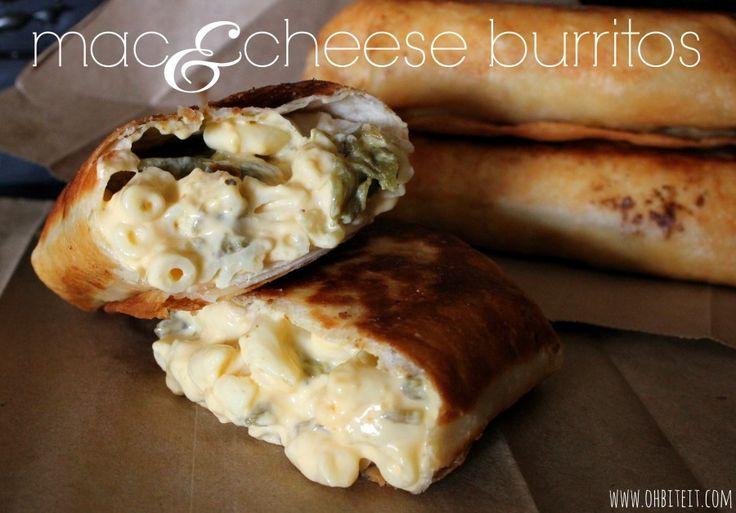 Mac-n-Cheese Burritos!