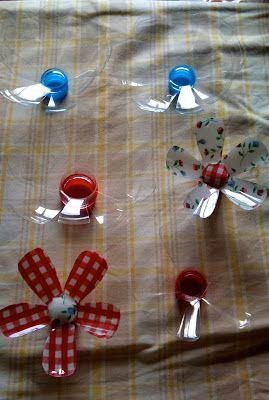 Como hacer Flores de botellas de plástico ~ cositasconmesh