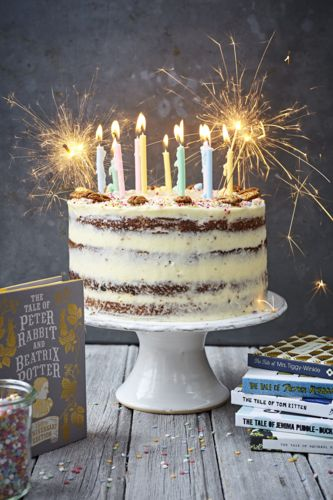 This gorgeous Beatrix Potter-inspired carrot and parsnip cake with cream cheese frosting by Georgian Hayden is the perfect treat for any occasion.