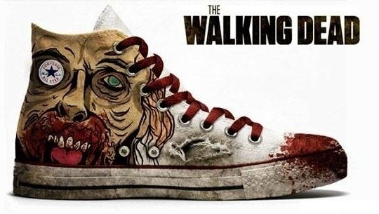 The Walking Dead shoes: Zombies Apocalyp, Chuck Taylors, Fashion, The Walks Dead, Sneakers, Walkingdead, Dead Conver, Conver Shoes, All Stars