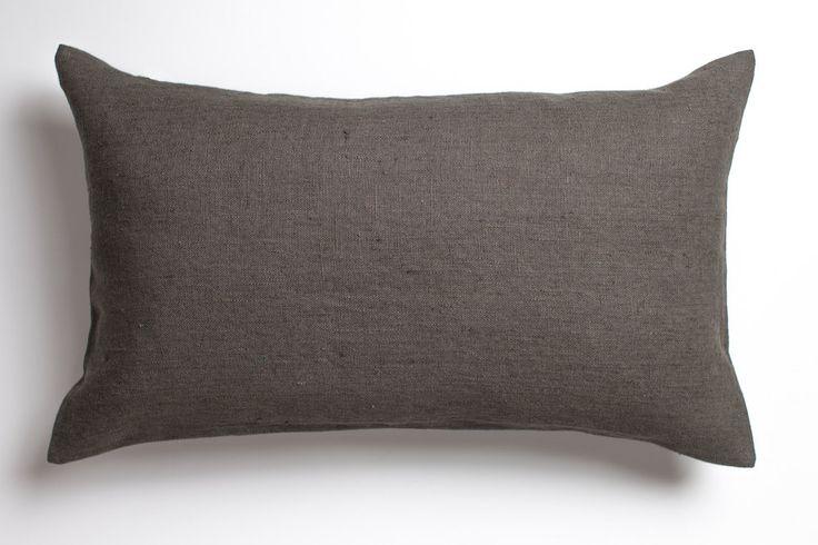 Dark grey linen pillow / stonewashed linen pillow / decorative linen pillow / luxury linen pillow / grey linen pillow / linen cushion by LUMODECO on Etsy https://www.etsy.com/listing/504058661/dark-grey-linen-pillow-stonewashed-linen
