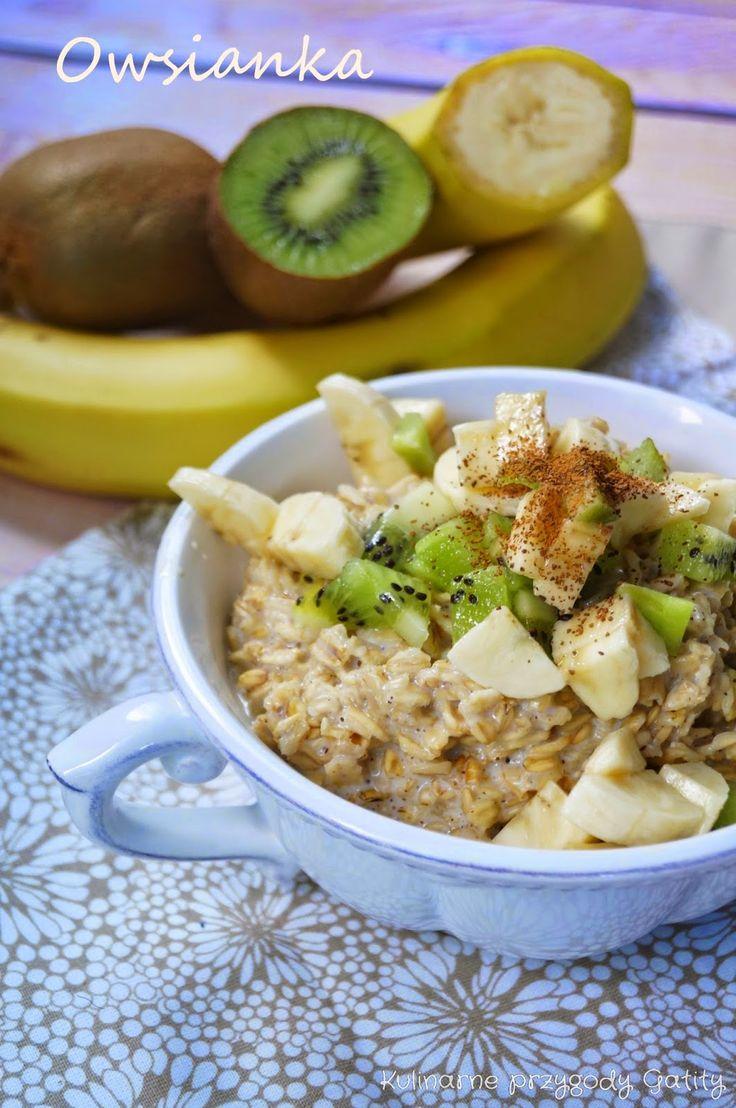 Kulinarne przygody Gatity: Owsianka z kiwi i bananem