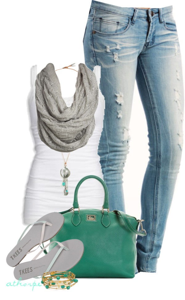 Love itCasual Weekend, Fashion Ideas, Clothing, Jeans, Polyvore, Untitled 357, Dreams Closets, Teal Handbags, Green Pur