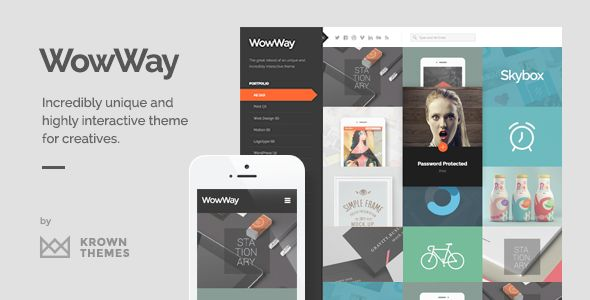 WowWay – Interactive & Responsive Portfolio WordPress Theme