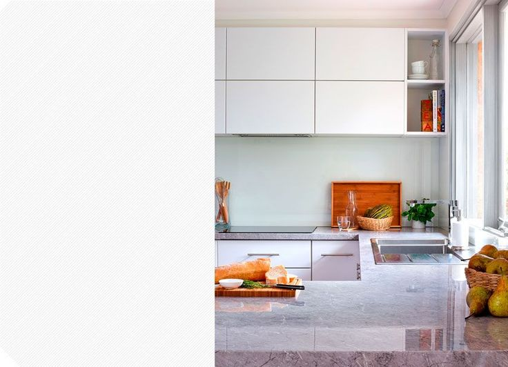 Marbellino laminate benchtop - the impression of stone at an affordable price. Visit kaboodle.com.au for more inspiration!