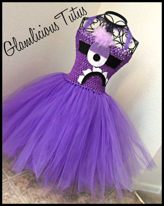 Evil Minion tutu dress  Purple tutu dress  by GlamliciousTutus, $30.00