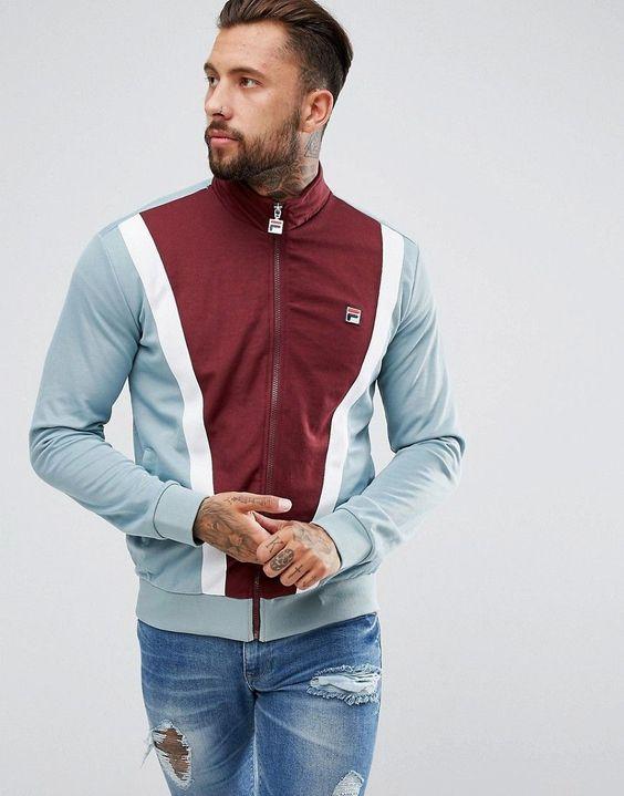 1078cbe9bb4b2 TRACK JACKET  As Jaquetas Esportivas Masculinas estão em alta, você usaria     Sports fashion   Pinterest   Moda masculina and Polos