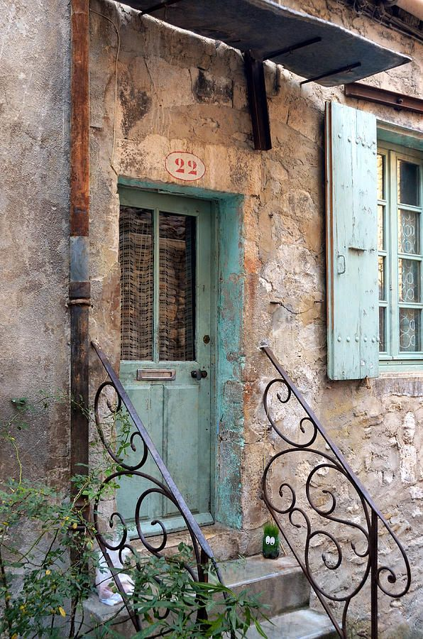 isis0isis:  Aqua Door At Number 22 In Viviers France - Carla Parris (via Fine Art Prints and Posters for Sale)