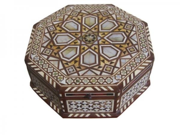 Large Egyptian Mother of Pearl Mosaic Jewelry Box  sc 1 st  Pinterest & 82 best Antique or Fancy Jewelry Boxes images on Pinterest ... Aboutintivar.Com