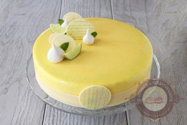 entremets citron basilic
