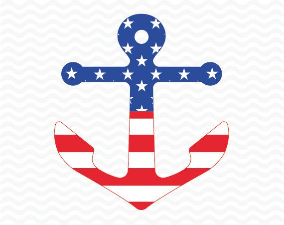 Patriotic anchor design American flag 4th of by ESIdesignsdigital
