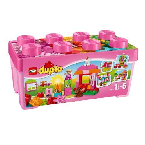 Cet ensemble de démarrage est une façon idéale de faire découvrir à votre fille la construction et la reconstruction avec Lego Duplo ! La grande boîte mon jardin merveilleux Lego Duplo comprend des éléments spéciaux, tels que des fenêtres, un joli lapin, une poule et des briques numérotées pour aider votre jeune constructeur à compter. Elle contient aussi des briques Duplo classiques, afin que l'expérience de construction puisse se développer et changer à chaque fois que votre enfant joue…