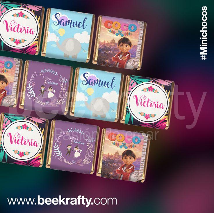 Personalizamos las chocolatinas  con lo que quieras para tus momentos más felices. www.beekrafty.com #chocolatinas #beekrafty #pasionporcrear