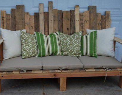 Die besten 25+ Holzpalette Betten Ideen auf Pinterest - bauanleitung gartenbank holz