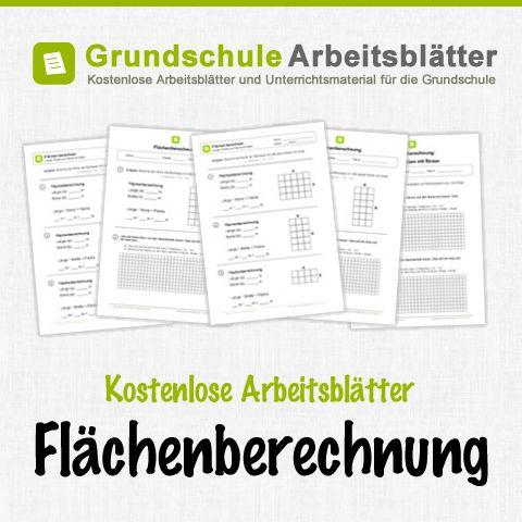 Kostenlose Arbeitsblätter und Unterrichtsmaterial zum Thema Flächenberechnung im Mathe-Unterricht in der Grundschule.