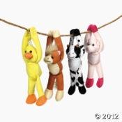 Plush Farm Animal Favors (12)