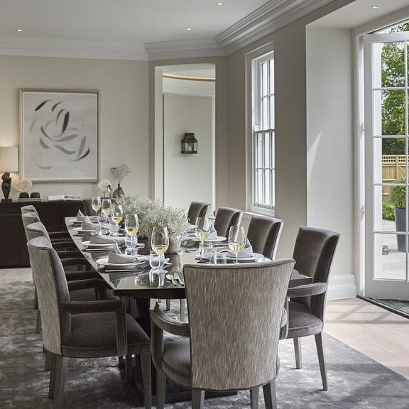 Light And Bright Dining Room With Wine Bifold Doors To The Patio