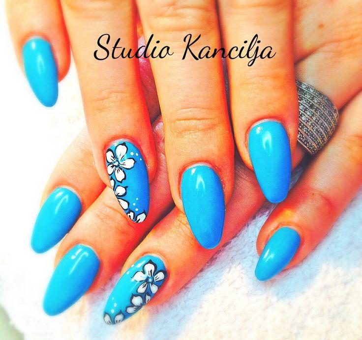 Blue stiletto
