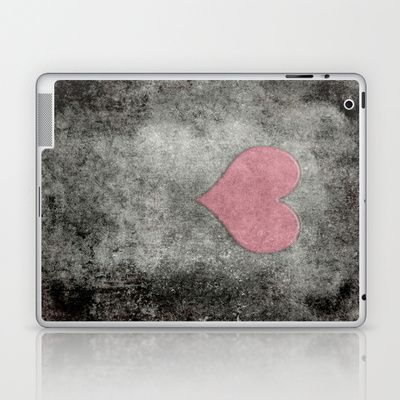 Valentines Grunge Love in Opal Pink Laptop & iPad Skin by Bruce Stanfield - $25.00
