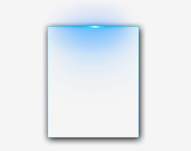 Neon Light Blue Rectangular Png And Psd Blue Neon Lights Clip Art Neon