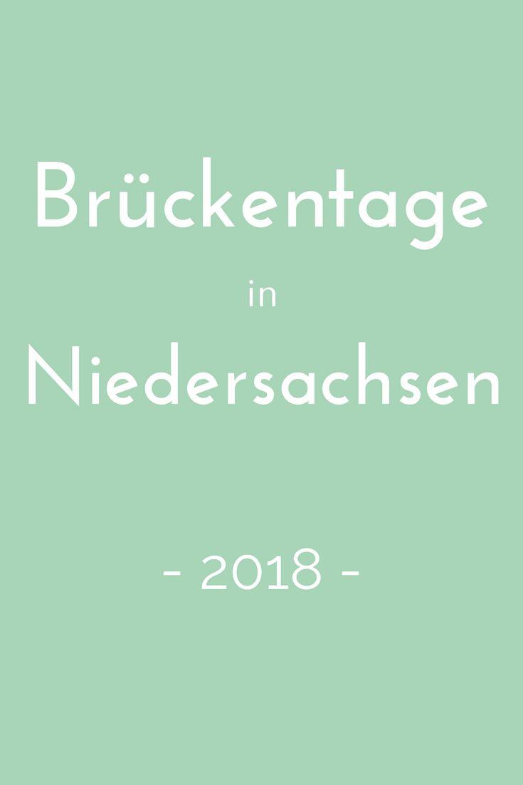 Brückentage nutzen, um ein paar Tage länger frei zu haben? Wie das geht, verrät der Brückentagekalender 2018 für Niedersachsen
