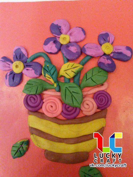 пластилинография фото цветы садовые отпуск, хочу