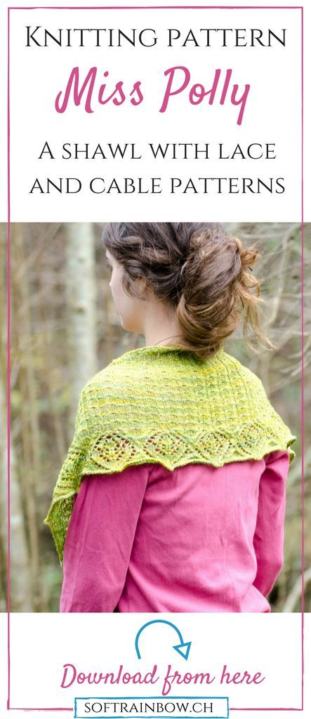 Knitting pattern | lace shawl | crescent shape | short rows