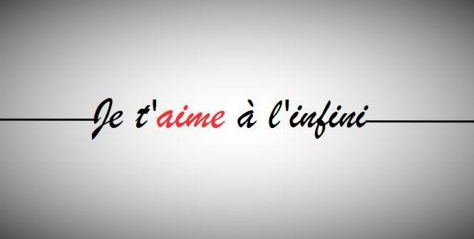 Image & Poème d'amour Je t'aime à l'infini