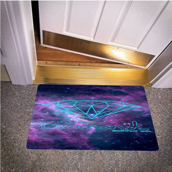MINT DIAMOND SUPPLY CO NEBULA BEDROOM CARPET BATH OR DOORMATS