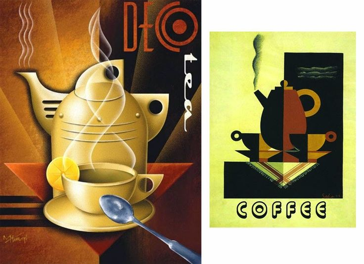 Coffee-themed Art Deco poster - Dark Roasted Blend: Imperial Dreams: Art Deco Update