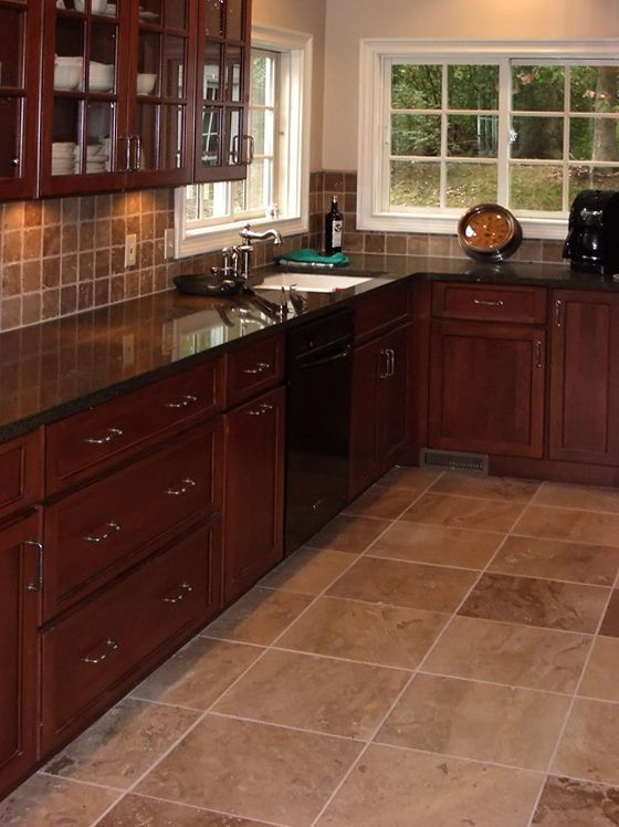 Dark Tile Floor Kitchen Enchanting 25 Best Dark Tile Floors Ideas On Pinterest  Kitchen Floors Decorating Design