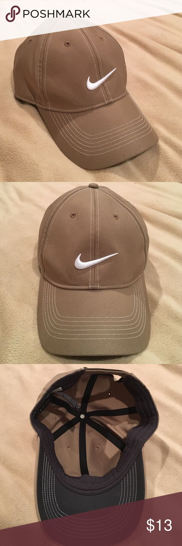 Tan Nike Golf Hat Brand new without tags, adorable just not my style anymore Nike Accessories Hats