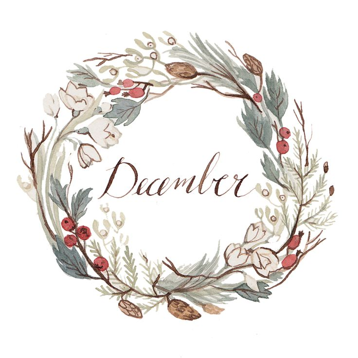 I will update with a calendar version of this soon! Also probably an alternate wreath (there are soo many lovely options for a December th...